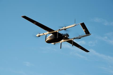 Blue Water Maritime Logistics UAV prototype made by startup Skyways c Skyways