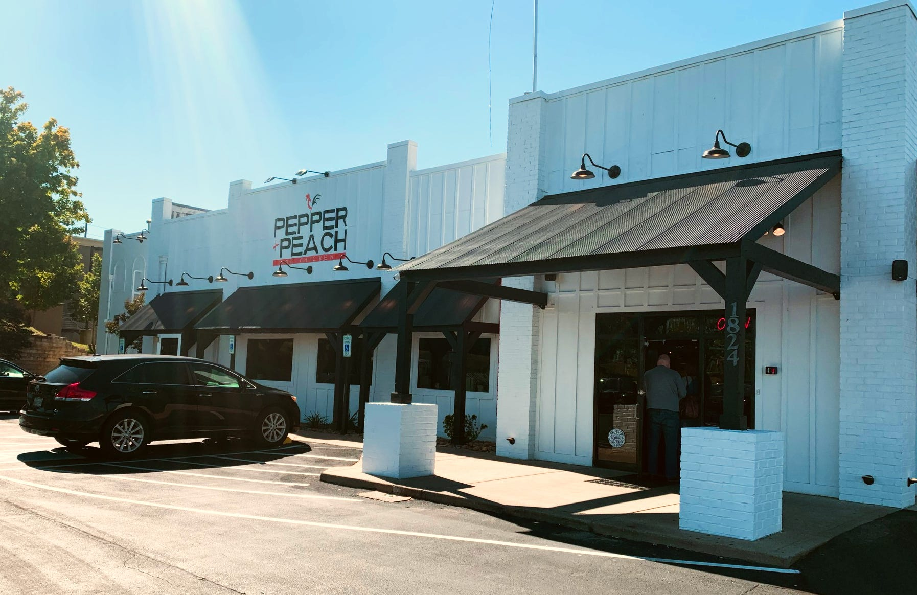 Pepper+Peach, a hot chicken restaurant founded by The Peach Cobbler Factory owners, is located at 1824 Old Fort Parkway in Murfreesboro.