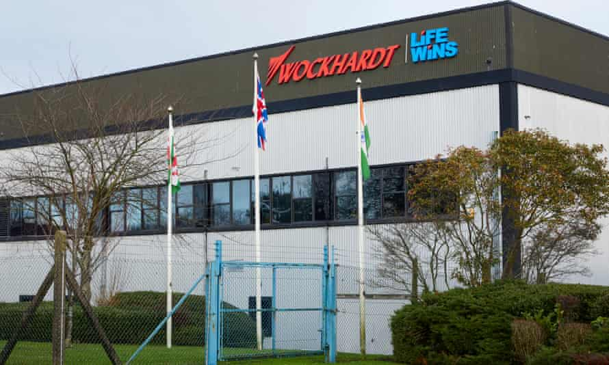 The exterior of the Wockhardt factory in Wrexham on Wednesday