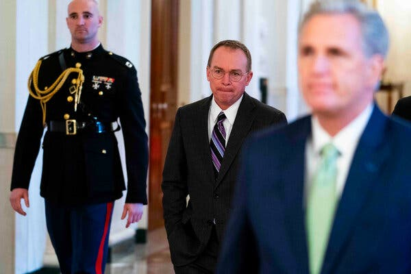 Mick Mulvaney, the former White House chief of staff, predicted that Republicans would look at a second impeachment of President Trump differently than they did the first.