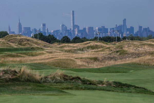 Trump Golf Links at Ferry Point, a city-owned golf course in the Bronx.