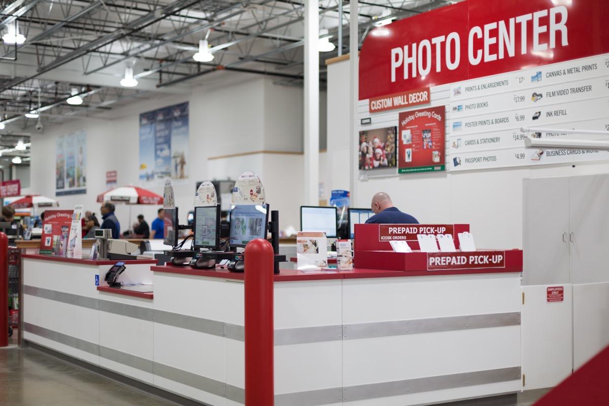 Costco in-store photo center