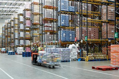 Heron Foods inside warehouse