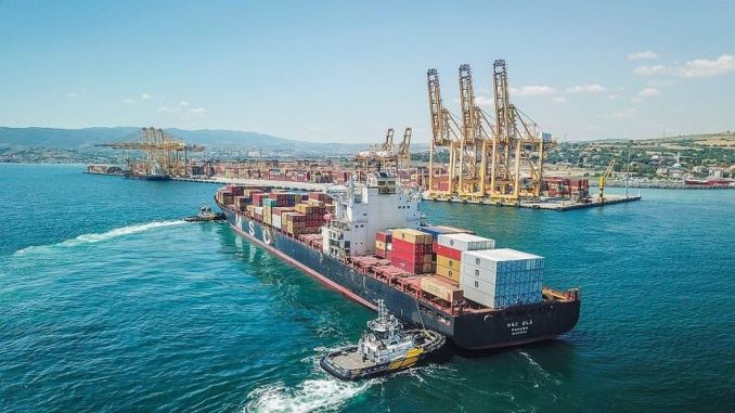 The amount of containers and cargo handled at ports increased