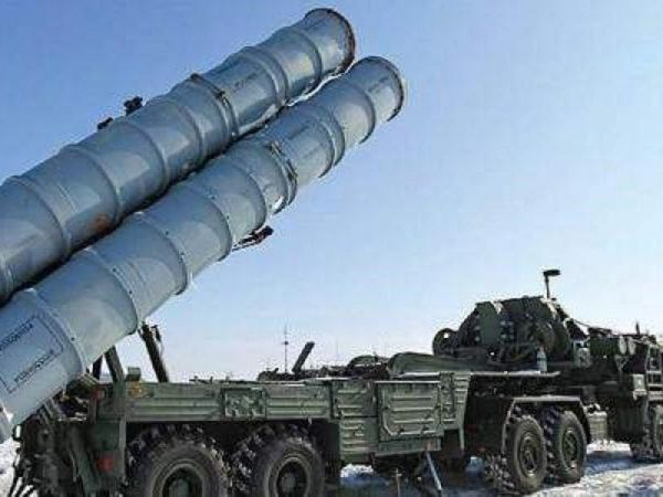 The Russian-made S-400 surface-to-air missile defence system.