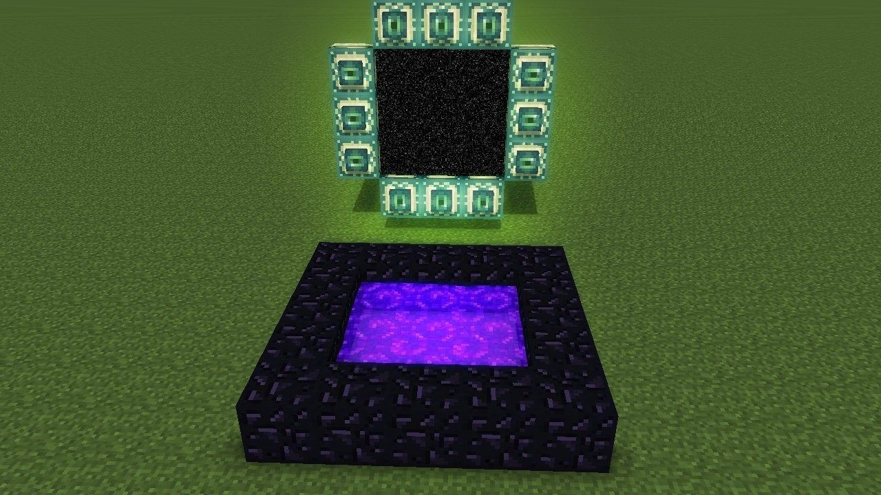 Horizontal nether portals, : minecraftsuggestions