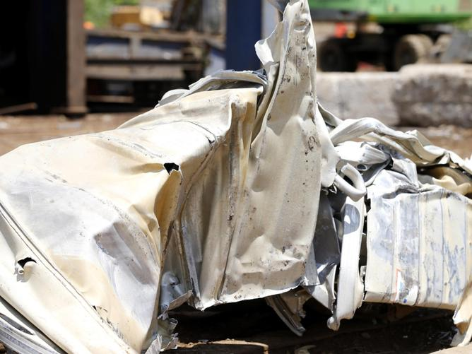 The illegal fishing boat was destroyed at Action Metal Recyclers, Brisbane on Wednesday.