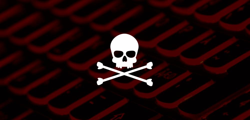 malware skull cyber