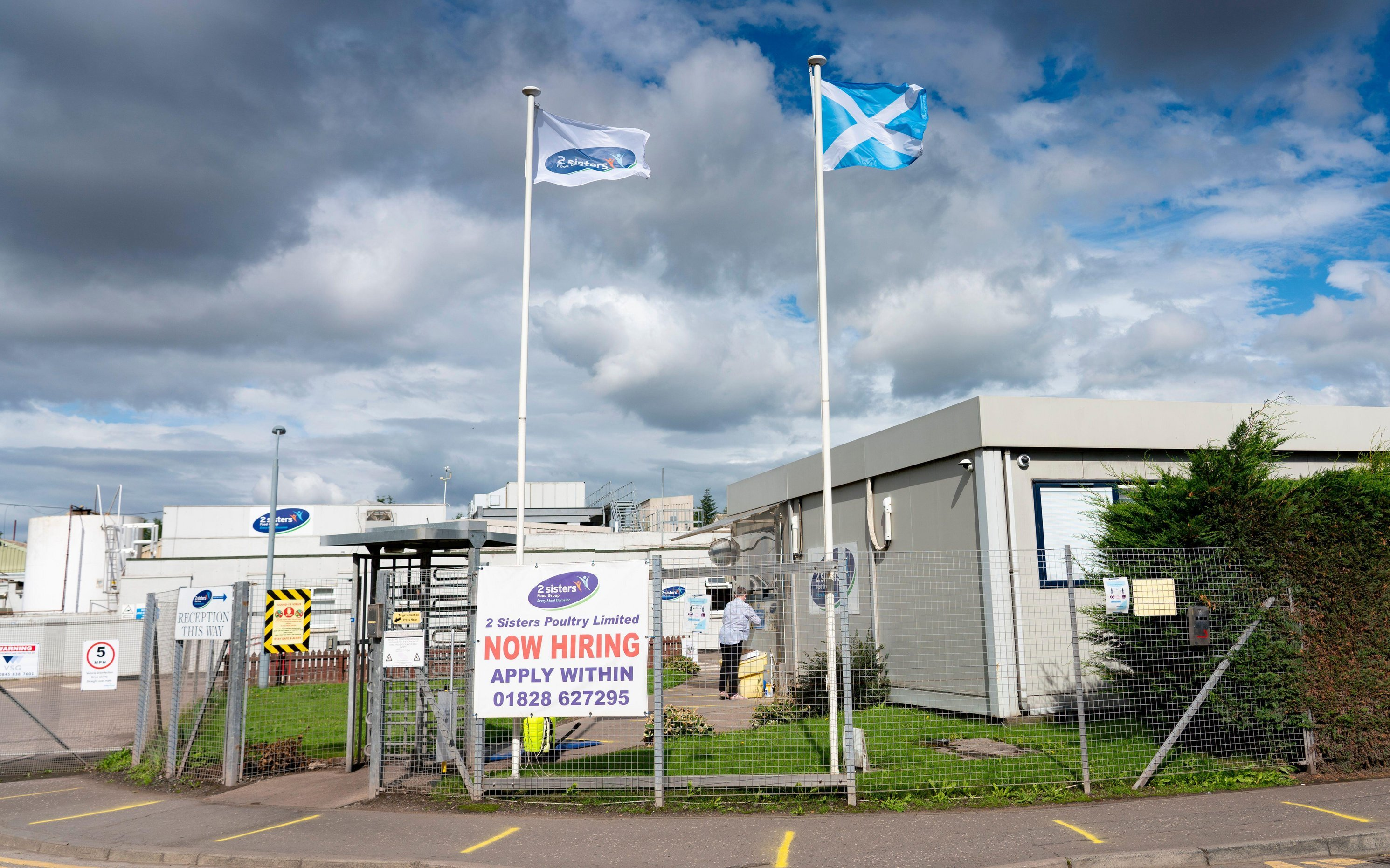 Staff at the 2 Sisters abattoir in Coupar Angus attended an illegal Hogmanay party