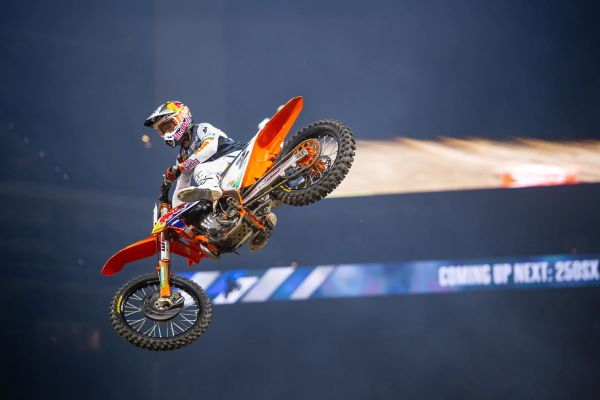 Red Bull KTM Factory Racing's Cooper Webb charges to a fourth-place finish in Indianapolis