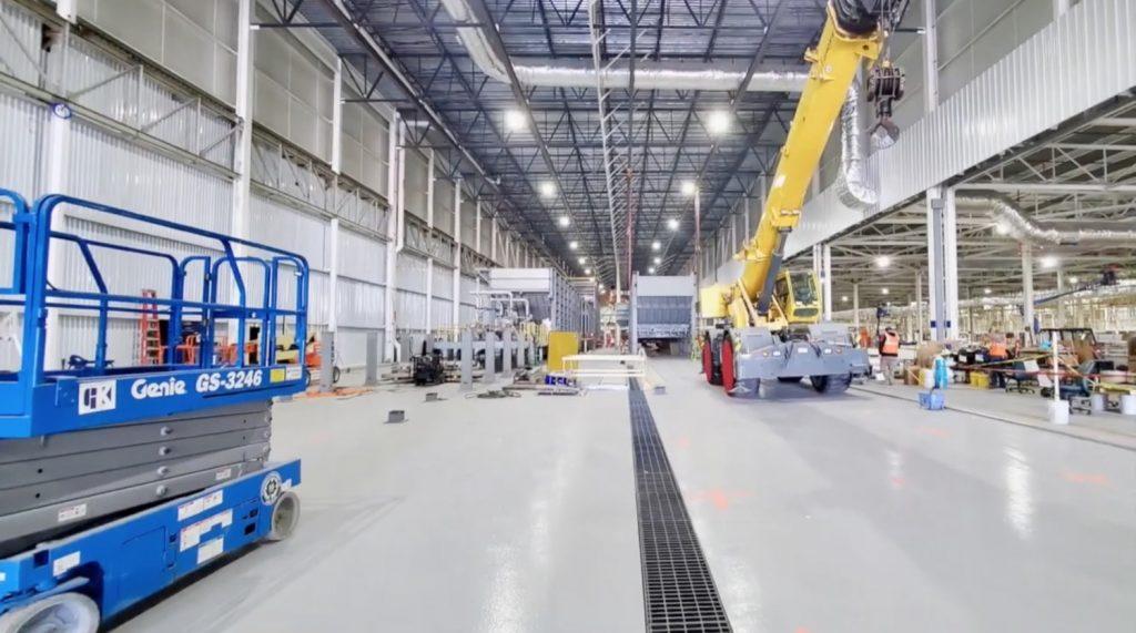Interior of GM Factory Zero plant