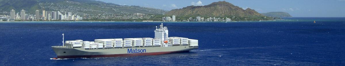 A Matson containership near Honolulu. (Photo: Matson)