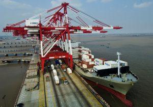 Cranes at the Matson facilities in Shanghai, China. (Photo: Matson)