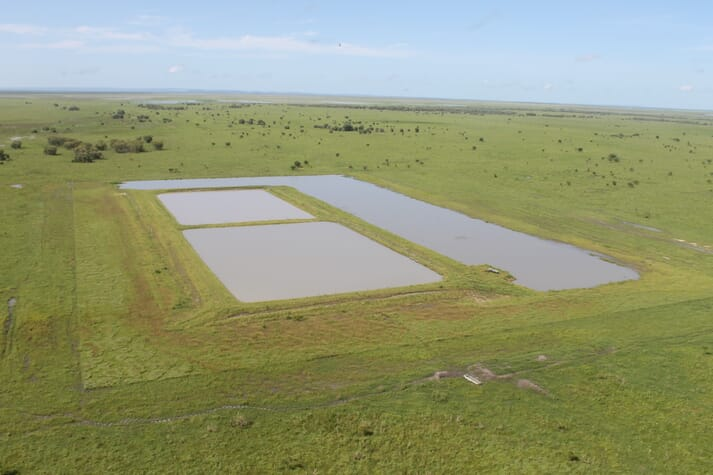 Project Sea Dragon's trial pond at Legune Station, in Australia's Northern Territory